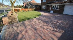An example of a brickweave driveway we completed.