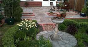 A patio we built that could do with some Christmas decorations.