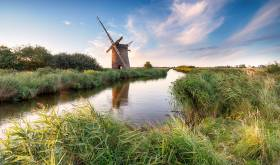 A windmill on the Norfolk Broads