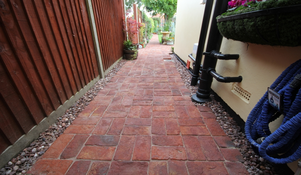 Norfolk Clay Paver Patio & pathways
