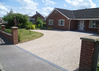 Chip Driveway with Paving in Hethersett