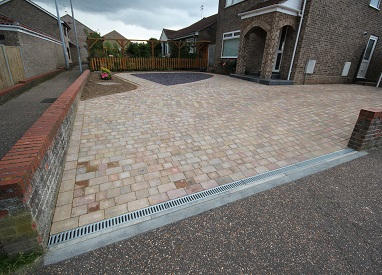 Elegant Gold and Plum Driveway in Hopton
