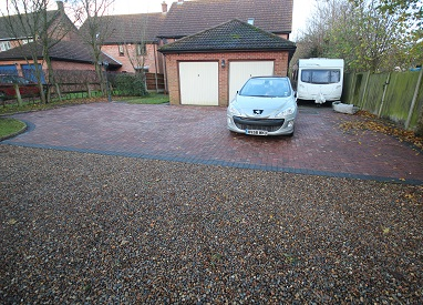 Red Brickweave Driveway in Saxlingham Nethergate