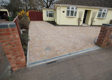 Spacious Block Paved Driveway in Sprowston